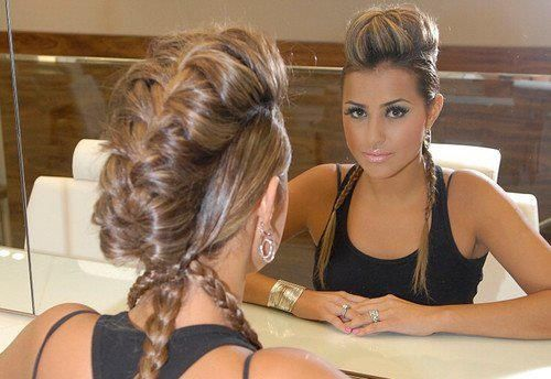 fohawk braid! Can't wait til my hair is long enough to do this!: Hairstyles, Hair Styles, Makeup, Braids, Beauty, Braided Mohawk