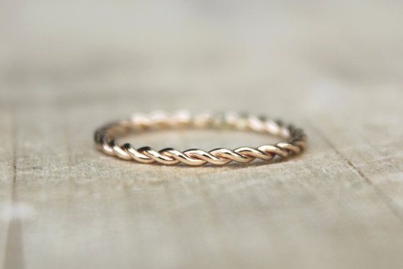 Gold Twist Ring, Yellow Gold Fill Stackable Ring, karma jewelry, eternity ring, nautical theme: Stackable Rings, Yellow Gold, Fill Stackable, Eternity Rings, Karma Jewelry, Nautical Theme