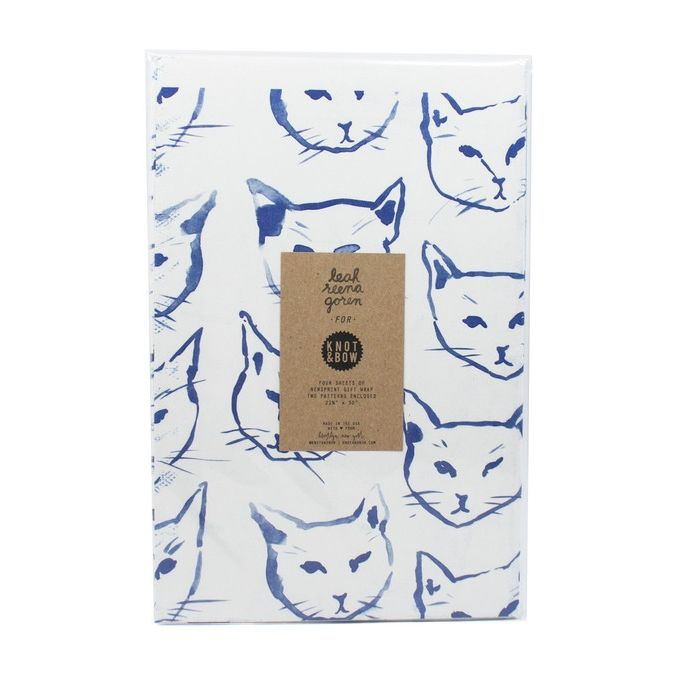 Gone are the days of wrapping holiday gifts with plain ol' green and red - cute cat paper has arrived!: Wrapping Paper Oh, Wrapping Papers, Gift Wrapping, Wrapping Holiday, Illustration, Paper Goods, Holiday Gifts