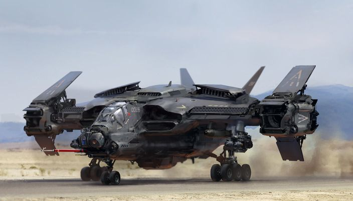 Gunship, is this thing street legal, cuz there are days when I really want this.: Concept Art, Scifi, Vehicle, Aircraft, Alexichim, Sci Fi, Alex O'Loughlin