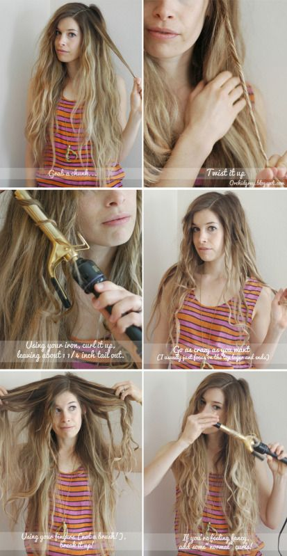 Hair Do How-To #6: Beachy Waves 2.0  ~~~So much better than the flat iron technique that decidedly does not want to play well with my hair texture!~~~: Hairstyles, Hair Dos, Beach Waves, Waves 2 0, Hair Styles, Hair Makeup, Beachy Waves, Beach Hair
