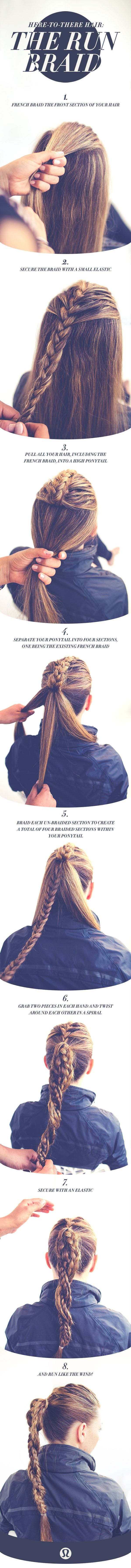 Here-to-there hair: Watch and learn how to create the perfect run braid... POST YOUR FREE LISTING TODAY! Hair News Network. All Hair. All The Time. http://www.HairNewsNetwork.com: Hairstyles, Running Hairstyle, Hairdos, Here To There Hair, Hair Styles, Ru