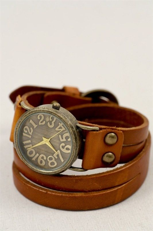 http://rubies.work/0811-multi-gemstone-earrings/ I don't wear watches, but I would wear this: Bracelet Watch, Vintage Watch, Style, Leather Watches, Bird Nests, Cute Watch