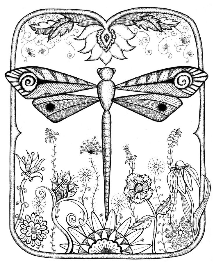 i just love doodles! The dragonfly is so pretty. I have seen dragonfly shawls hand painted at Yours Elegantly online.: Pattern, Dragonfly Doodle, Art Zentangle, Zentangle Doodles, Dragonfly Garden, Dragonflies