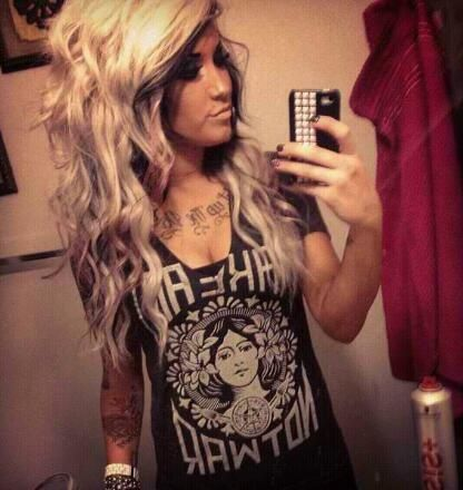 I love this hair style and both dark and blonde color!!! i want!: Blonde Hair, Rocker Hairstyles, Hair Makeup, Hair Style, Beautiful Hair, Beauty, Tattoo, Pretty Hair, Hair Color