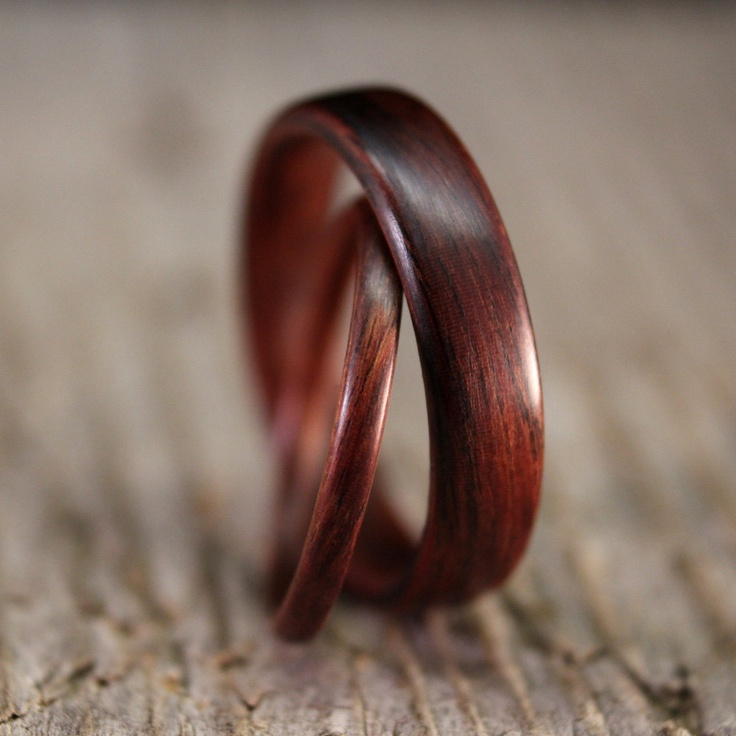 Kingwood Bentwood Ring Set - Wedding or Engagement - Stackable - Handcrafted Wooden Rings. $210.00, via Etsy.: Dream, Weddings, Wooden Rings, Wedding Rings, Wooden Wedding Band