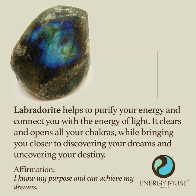 Labradorite helps to purify your energy and connect you with the energy of light. It clears and opens all your chakras, while bringing you closer to discovering your dreams and uncovering your destiny. #labradorite #healing #crystals: Labradorite Healing,