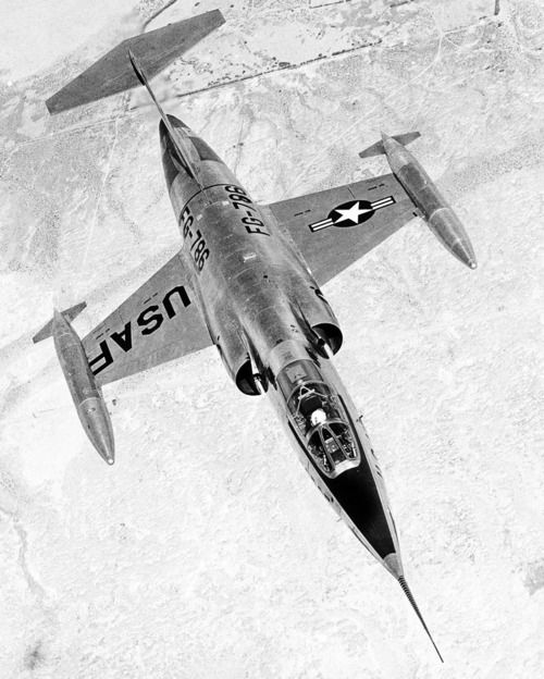 Lockheed XF-104 Starfighter  - cool plane with a cooler name: F104 Starfighter, Military Aircraft, Airplane, Planes, Jet