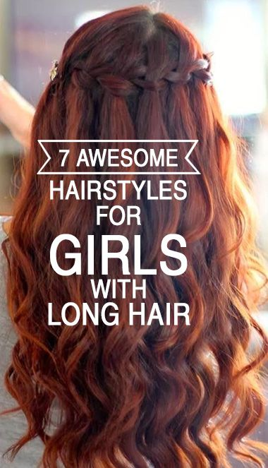 Long hair? No more worries over styling! Here are 7 amazing hairstyles for girls with long hair.: Girls Long Hair Style, Peinados Casual, Long Hair Problem, Hairstyles For Girls, Hair Color, Amazing Hairstyles, Hairstyles For Long Hair