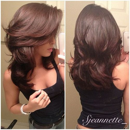 long hair styles for women: Haircuts, Layered Cut, Medium Length, Hairstyles, Hair Styles, Hairdos, Hair Cut, Hair Color