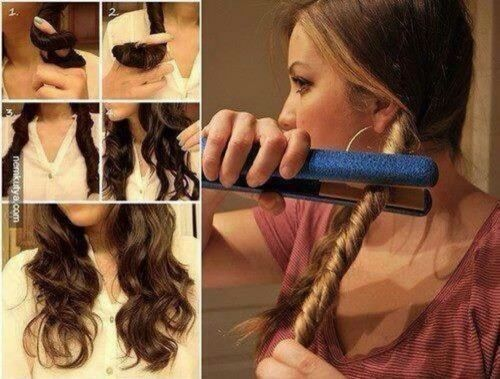 Looks easy but im not sure cause my hair is really thick: Hair Ideas, Hairstyles, Beauty Tips, Hair Styles, Wavy Hair, Makeup, Curls, Medium Hair, Life Hacks