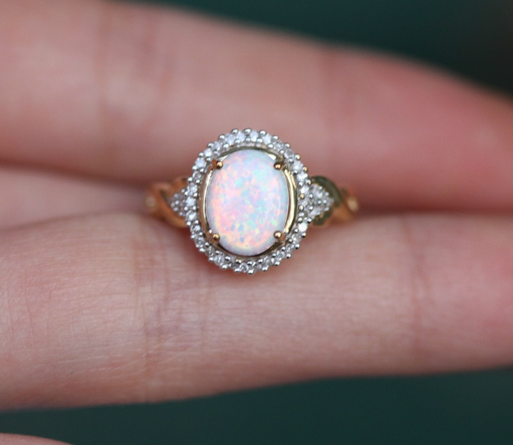 Neeeeeed 10k Yellow Gold New Oval Opal Diamond Promise Engagement ring band: October Opals, Fashion Ideas, Easy Style, Fashion Tips, October Baby, Engagement Ring