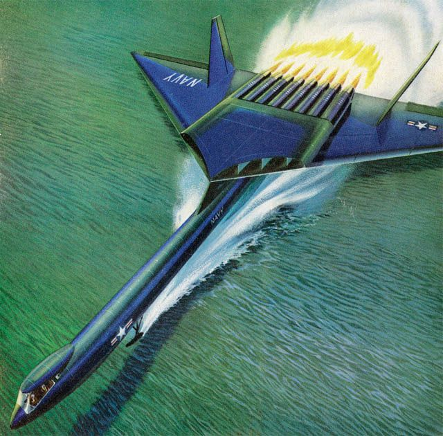 Nuclear everything: Cover of Newsweek, 1957 - both the US and Soviet Union had lofty plans to keep bombers in the air indefinitely by using nuclear power: Airplane Concepts, Naval Nuclear, Nuclear Plane, Cover 1957, Dark Roasted, Nuclear Powered Airplane,