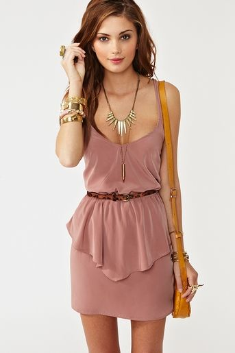 pretty: Fashion, Summer Dress, Style, Cute Dresses, Outfit, Twisted Peplum, Dusty Rose, Peplum Dresses
