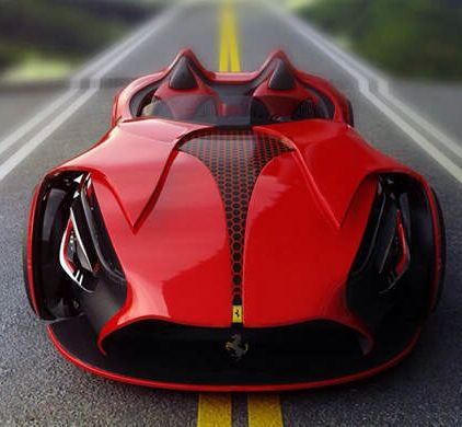 Rendering of an electric Ferrari concept: Batman Ferrari, Electric Concept, Boring Electric, Ferrari Electric, Cars Automovil, Cars Electriccar, Electric Ferrari Woa
