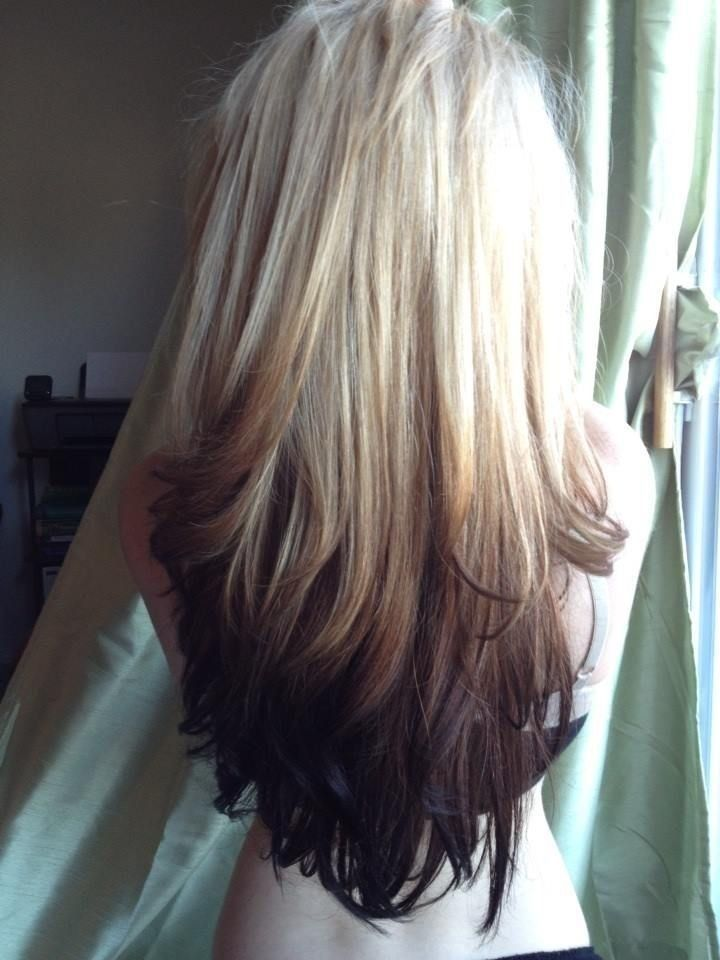 Reverse Ombre - Straight Long Hairstyle Color Ideas 2015: Hair Ideas, Reverse Ombré, Hair Colors, Hairstyles, Blonde, Hair Styles, Haircolor, Ombre Hair, Reverse Ombre