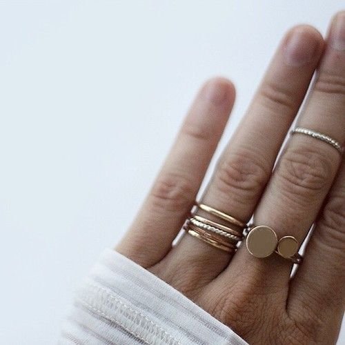 Ring Stacks http://rstyle.me/n/rbw424ni6: Stackable Rings, Layered Rings, Stack Rings, Midi Rings, Stacked Rings, Gold Stack, Simple Rings, Gold Rings, Stacking Rings
