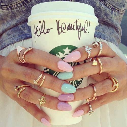 rings: Fashion, Nailart, Pastel Nails, Rings, Nail Design, Beauty, Accessories, Nail Art