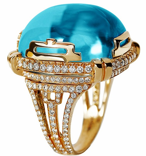 Rock 'n Roll Large Blue Topaz Cabochon Ring: Blue Topaz, Diamond Rings, Bling Rings, Jewelry Fashion, Diamonds Stones Jewelry, 477 509 Pixel, Bling Jewelry