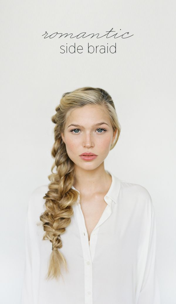 Romantic Side Braid Hair Tutorial via oncewed: Hairstyles, Wedding Hair, Hair Styles, Hair Tutorial, Makeup, Romantic Side, Beauty, Side Braids
