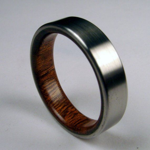 Rosewood and Titanium Band Wood Ring: Wedding Ring, But, Idea, Style, Titanium Rings, Metal, Wedding Band, Wood Rings, Woods