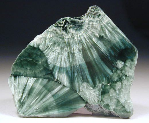 Seraphinite is a beautiful green stone that looks like it may have Angel's wings inside of it. Seraphinite helps connect us with the angelic realm. Seraphinite also promotes regeneration and self-healing. Seraphinite comes from only one place in the world