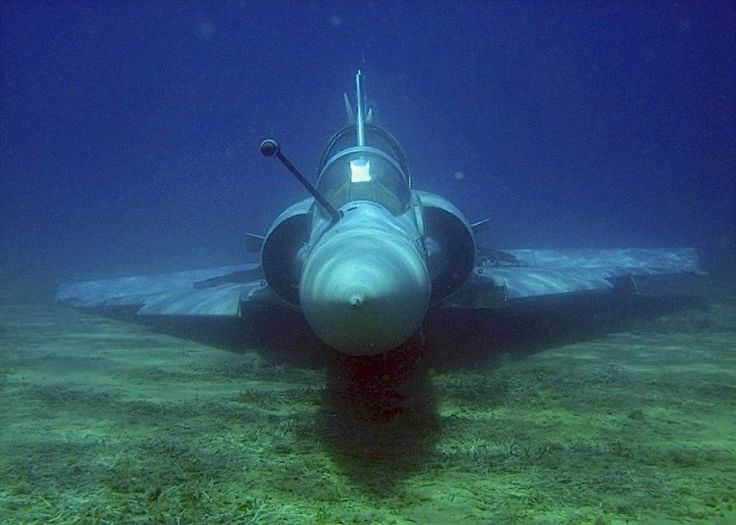 Submerged and intact airframe of Hellenic Air Force Mirage 2000 that crashed in 2011: Airforce, Air Force, Hellenic Air, Aircraft, Intact Airframe, Fighter Jets