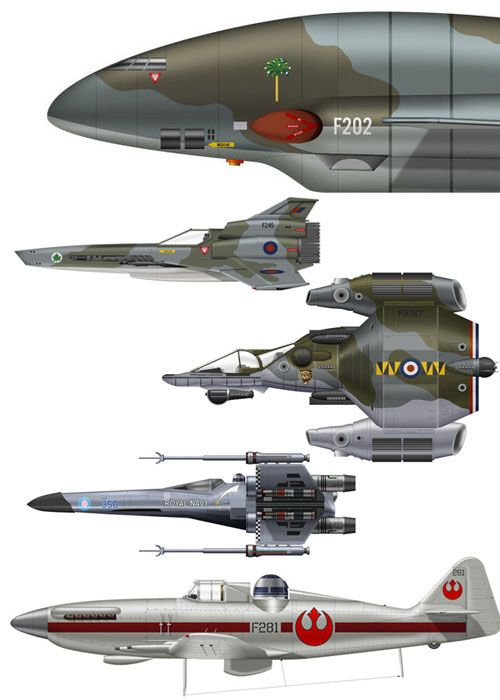 sunday fantasy #385: Clavework Graphics    Some of their fantasy Avro Vulcans were posted here a while back. Since then, things have been getting silly.: Avro Vulcan, Aircraft, Star Wars Spaceship, Battlestar Galactica, Star Wars Concept Art, Star Trek