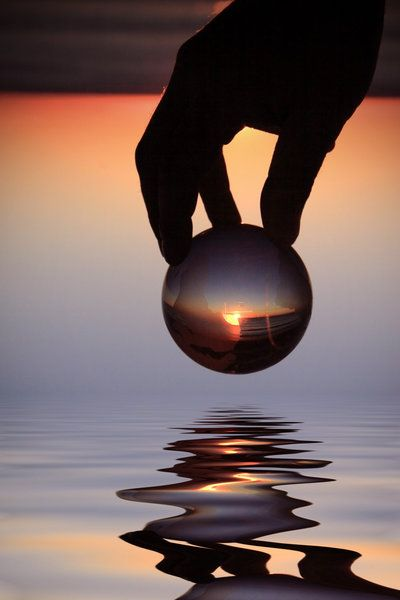 The World In His Hands by Beata Czyzowska Young: Photos, Hands, Czyzowska Young, Art, Sunset Reflection, Reflections, Beata Czyżowska, Photography, Beautiful Image