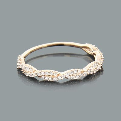 This Thin Stackable Designer Diamond Ring in 14K gold showcases 0.28 carats of sparkling round diamonds. Featuring a lovely design and a highly polished gold finish, this ladies diamond ring is available in 14K white, yellow and rose gold. Please note: th
