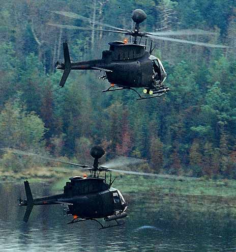 Two OH-58D Kiowa Warrior helicopters of the US Army on patrol. - Image - Airforce Technology: Airplanes Jets Helicopters, Aircraft Helicopters, Jav S Helicopters, Army Helicopters, Airplanes Helicopters, Helicopters Elicopteros, Military Helicopter, Helic