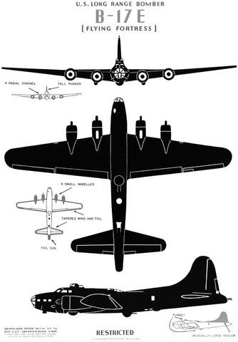 """U.S. Long Range Bomber B-17E, """"The Flying Fortress"""" #vintage #airplane #wwii: Photos, B 17, Wwii, Airplane, Aircraft, Flying Fortress, X Ray, Cards"""