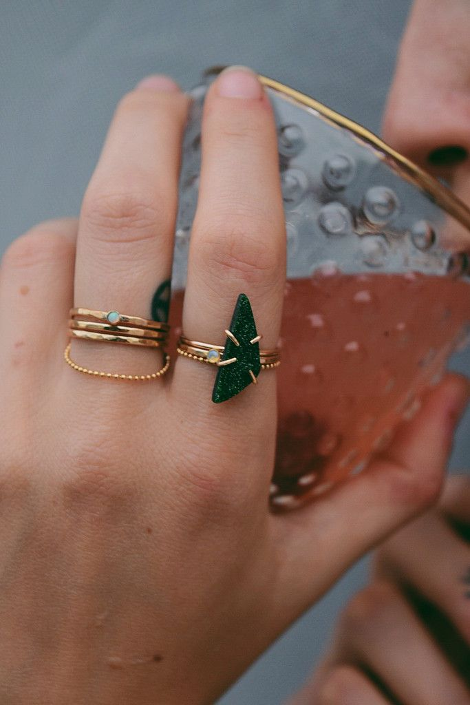 Uvarovite Ring // LILI CLASPE: Rings A Lings A Dings, Accessories Jewelry Rings, Green Rings, Gems Jewelry, Gem Jewelry, Green Jewelry, Uvarovite Ring