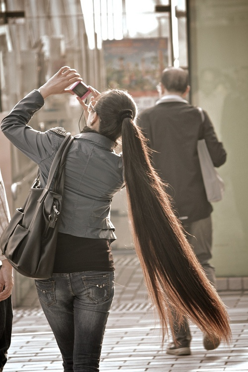 very long hair | Tumblr..... Omfg that's so fucking long!!! <3 in love: Long Ponytails, Hairstyles, Hair Styles, Long Hair, Beautiful Long, Longhair, Beautiful Hair, Beauty, Hair Length