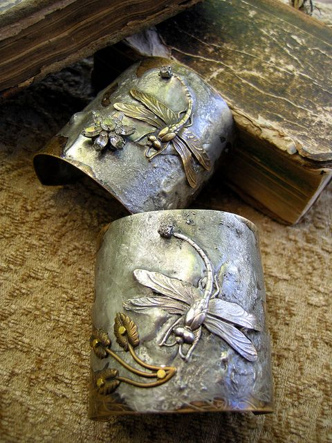 Vintage Dragonfly Cuffs by Diana Frey, via Flickr  pretty but wouldn't be able to wear them a lot!: Dragon Flies, Dragonfly Cuffs, Gorgeous Cuffs, Jewelry, Things, Cuff Bracelets, Accessories, Dragonflies, Diana Frey