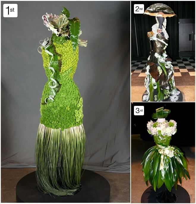 We sell new and used mannequins and forms at Mannequin Madness for projects like this.: Flower Dresses, Dressforms, Flower Dress Mannequin Paspop, Perishable Dresses, Floral Dresses