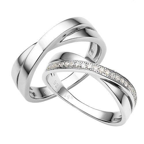 Wedding Ring Sets His and Hers Silver Couple by VANKLEJewelry, $79.00: Platinum Cubic, Lover S Rings, Couple Rings, Plated Cubic, Plated Platinum, Sterling Silver, Cubic Zirconia, Wedding Rings, 925 Sterling