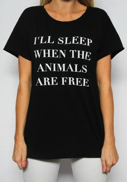 When The Animals Are Free Rocker Tee // The Tree Kisser: Awesome T Shirts, Tree Kisser, Animal Rights, Casual, Trees, Animals Steal, Products, Animal Obsession