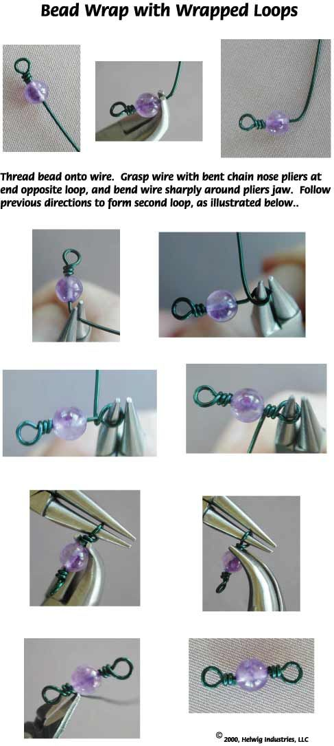 Wire Bead Wraps Jewelry Making Technique made with WigJig Jewelry Tools, wire and supplies.: Metal Jewelry Making, Bead Wraps, Bead Jewellery Making Ideas, Wigjig Jewelry, Wraps Jewelry, Fyi Bead, Jewelry Tools