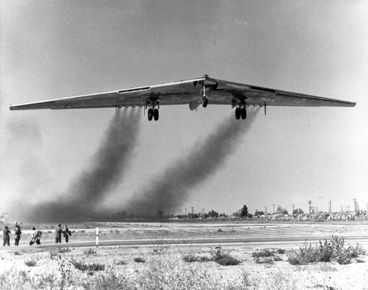 YB-49 Flying wing, a heavy bomber prototype, takes to the air for the first time in 1947: Aviation, Heavy Bomber, Wings, Airplane, Aircraft, Flyingwing