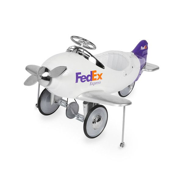 Your little one is ready to make delivery runs with this charming pedal plane. Complete with moving chrome propeller and FedEx vinyl decals, this pedal plane is a timeless classic. Give your special little tyke a gift they will never forget.: Charming Ped