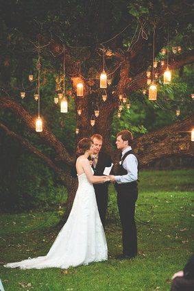 19 Wedding Lighting Ideas That Are Nothing Short Of Magical: Outdoor Wedding, Tree, Wedding Ideas, Weddings, Dream Wedding, Weddingideas, Light, Future Wedding
