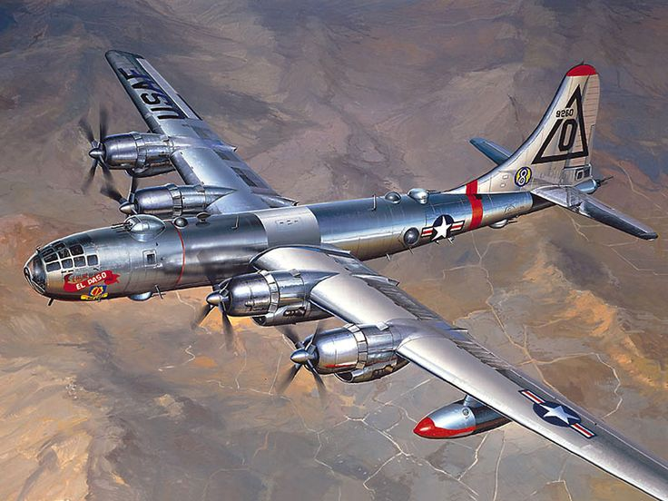 1948 Boeing B-50 strategic bomber - A greatly improved version of the WW2 B-29 'Superfortress'. Only 371 were built.: B 29 Superfortress, Boeing B 50, Aircraft, Ww2 B 29, Strategic Bomber, Photo, 1948 Boeing, B 50 Strategic