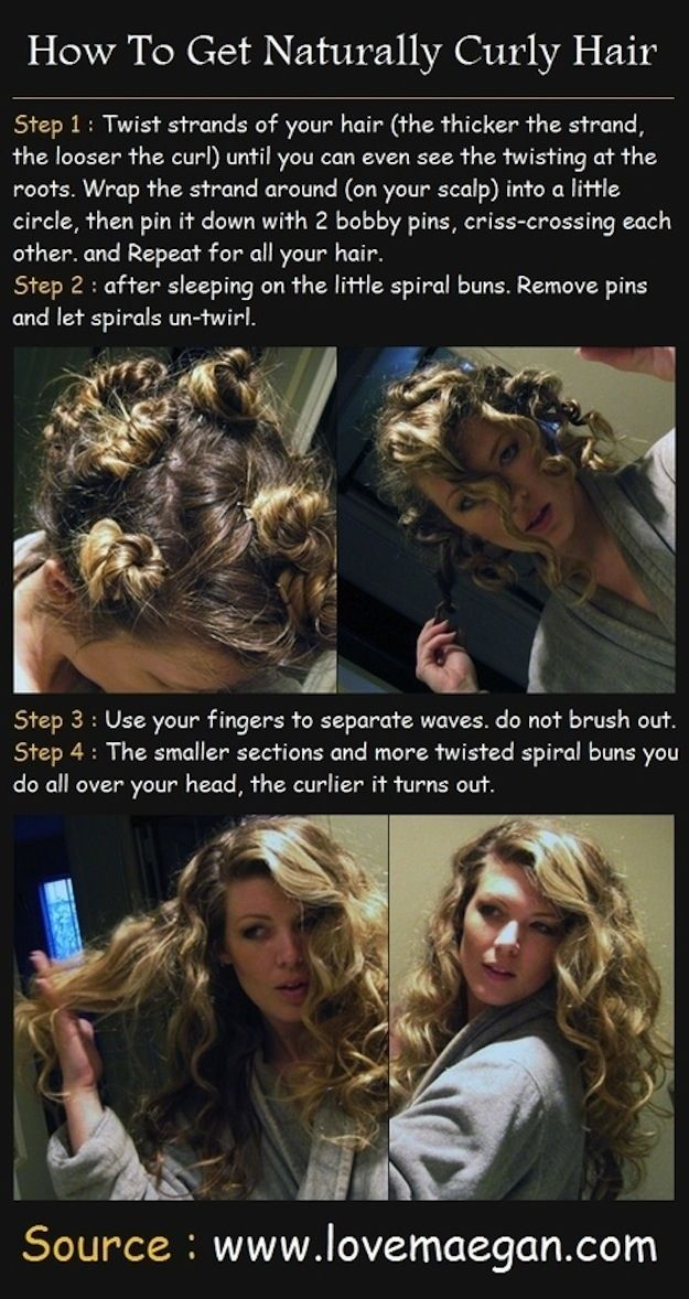 """You can also easily curl your hair overnight without an iron""... and other lazy beauty routine additions.: Hair Ideas, Hairstyles, Hair Styles, Makeup, Hair Tutorial, Curls, Naturally Curly Hair, Beauty"