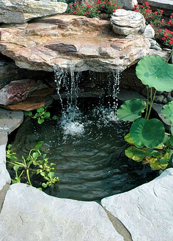 A simple little pond is always fun; especially with a few goldfish.: Ponds, Pond Idea, Garden Design Idea, Waterfall, Fun, Water Garden, Goldfish Pond