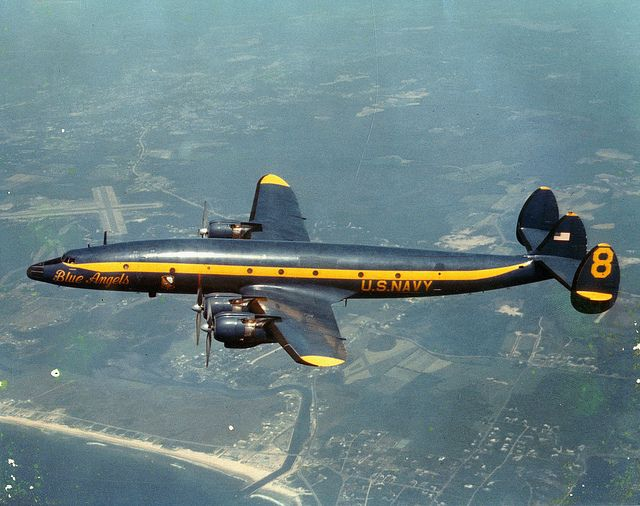 Blue Angels C-121 Constellation: Angel Numbers, Constellations, Lockheed C 121J, C 121J Constellation, Navy, Photo, Blue Angels