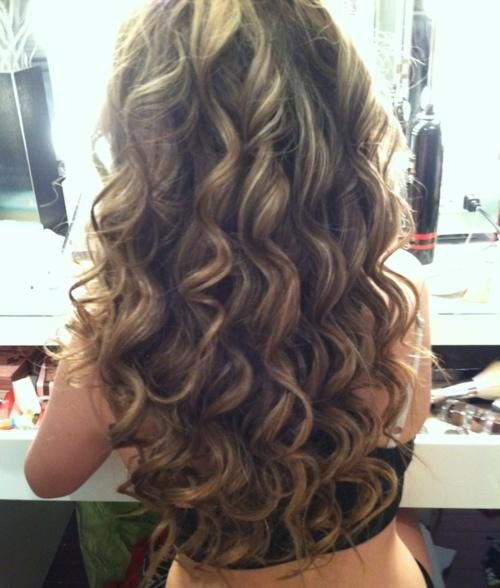 Brown & Blonde Smokey Curls - Hairstyles and Beauty Tips: Beautiful Curls, Body Wave Perm, Hair Styles, Big Curl Perm, Long Permed Hairstyles, Long Hair Perm, Hair Color, Curly Hair