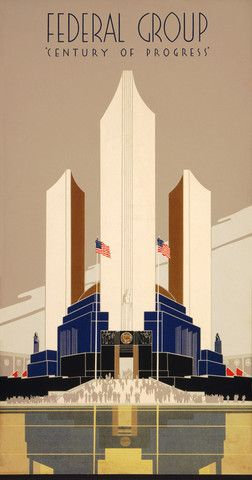 Century of Progress: 1934 Chicago World's Fair. #vintage #chicago: Progress, Vintage Poster, 1934 Chicago, Century, Travel Posters, Products