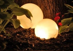 DIY Outdoor Lighting for $3. I'm always looking for ways to make our backyard more livable. Especially in the early fall when it gets dark out so early but it's still nice enough to want to go out!: Idea, Garden Outdoor, Yard, Outdoor Lighting, Sh