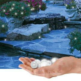 Fairy Berries Lights. These charming little orbs of light gently fade in and out to add some after-dark magic to any yard. Scatter or hang them anywhere--they're even water resistant to add a glow to your pool, fountain or pond.: Water Fountain, Berri